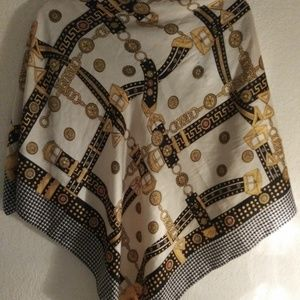 Gold and Black Scarf